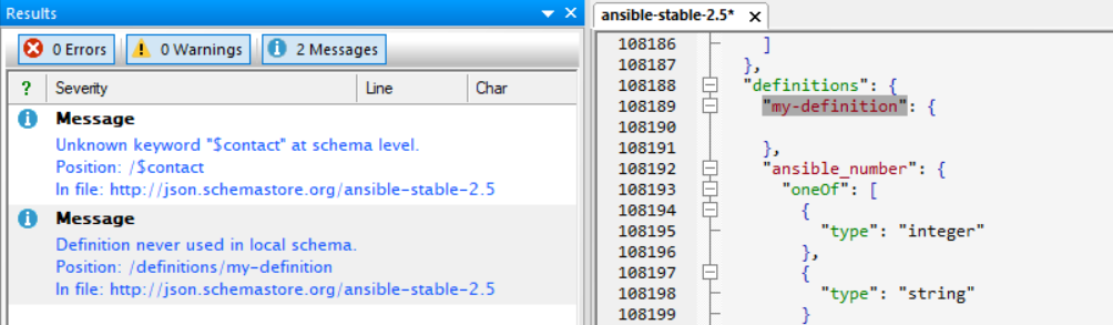 ansible-huge-schema-definition – Your JSON Buddy