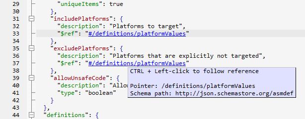 JSON schema editor with $ref resolving