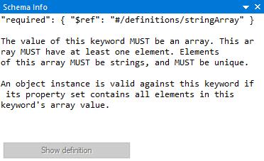 JSON schema editor