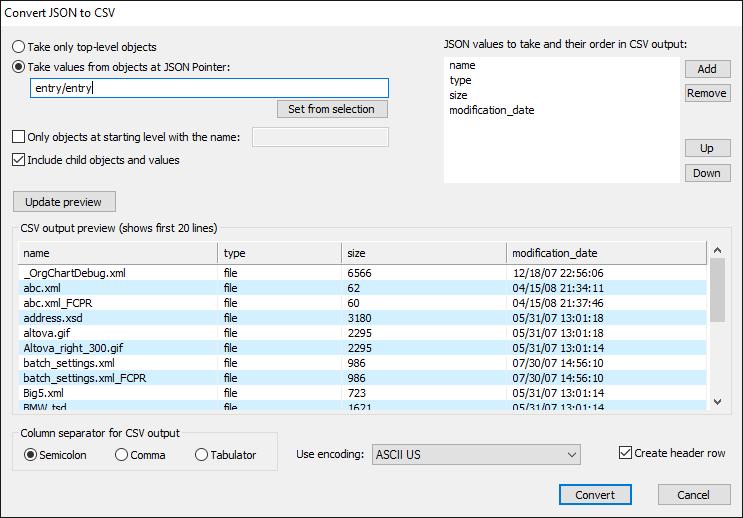JSON schema analyzer