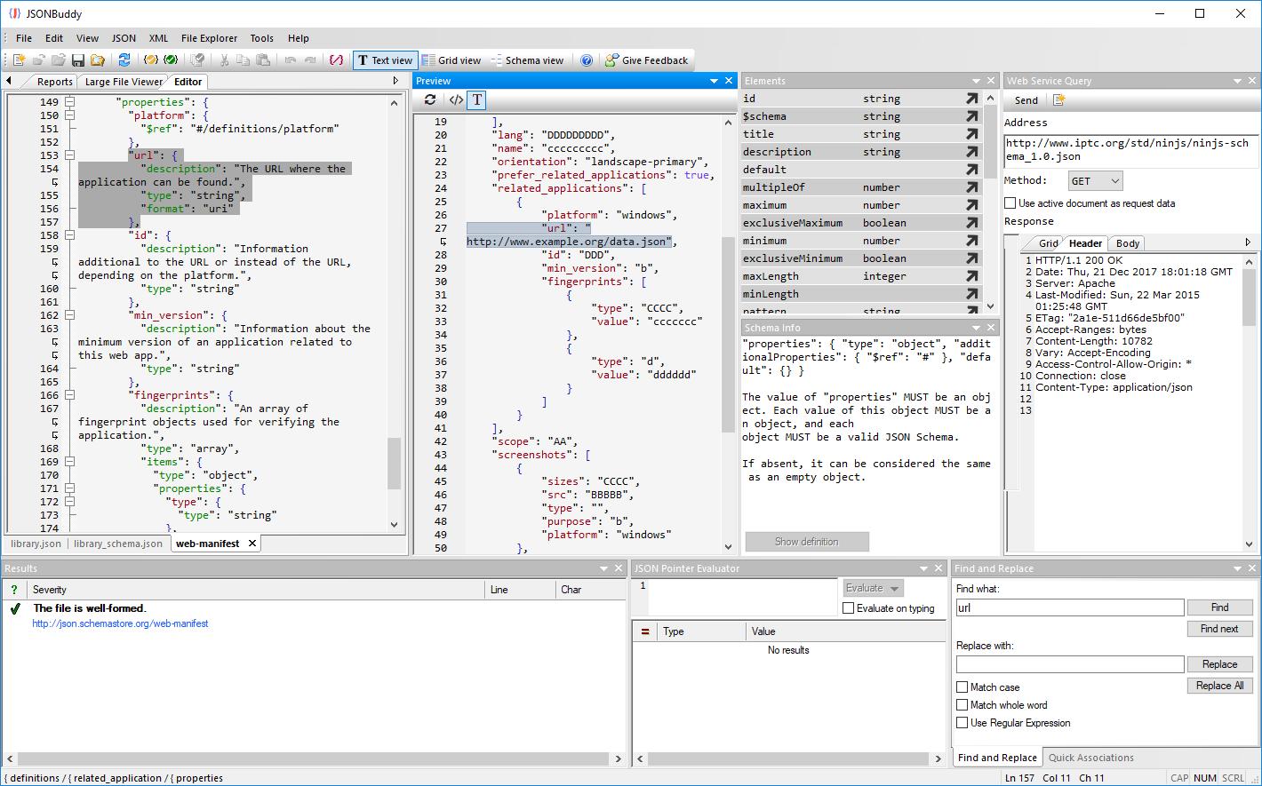 json schema editor for windows