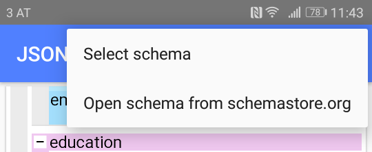 Select schema from schemastore.org