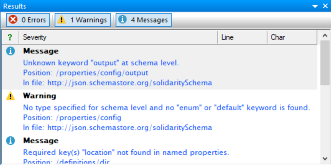 JSON schema analyzer runs in the background
